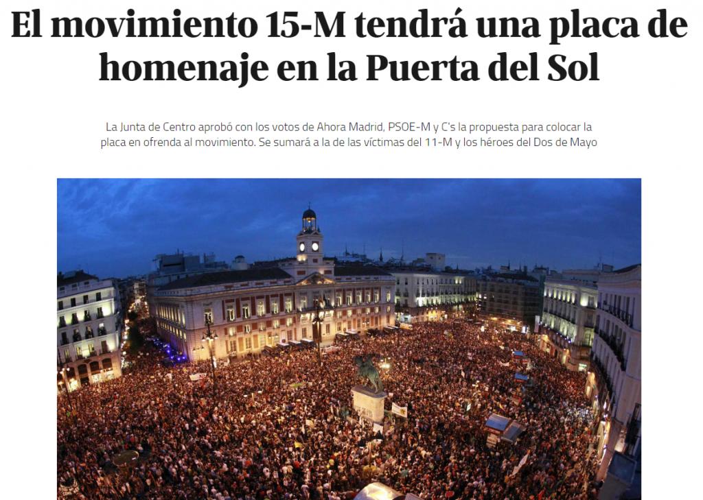 Ciudadanos apoya el movimiento 15-M.